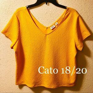 Cato 18/20 yellow crop top